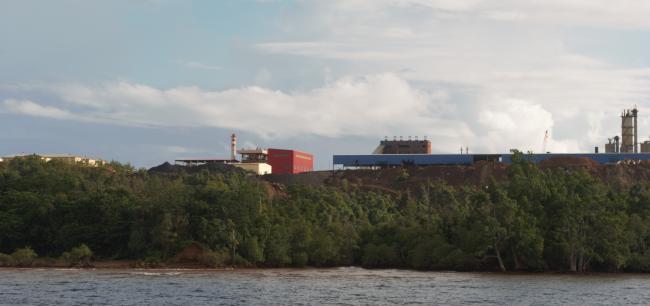 Kondisi mangrove yang terancam industri tambang nikel di Tanjung Obolie Pulau Gebe
